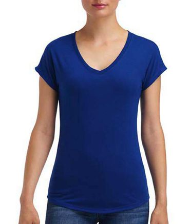Anvil: Women`s Tri-Blend V-Neck Tee 6750VL – Bild 20