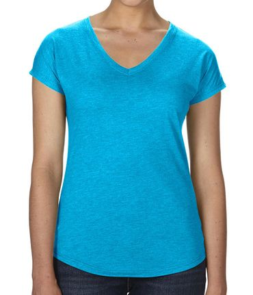 Anvil: Women`s Tri-Blend V-Neck Tee 6750VL – Bild 8