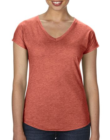 Anvil: Women`s Tri-Blend V-Neck Tee 6750VL – Bild 10