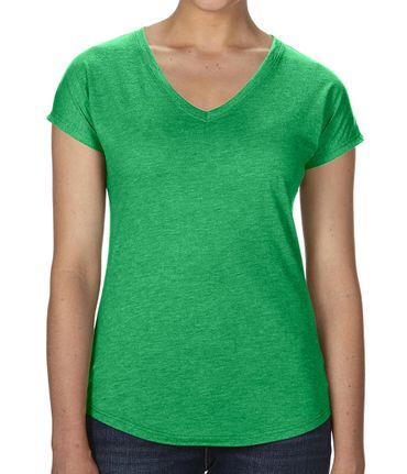 Anvil: Women`s Tri-Blend V-Neck Tee 6750VL – Bild 14