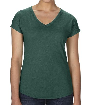 Anvil: Women`s Tri-Blend V-Neck Tee 6750VL – Bild 15