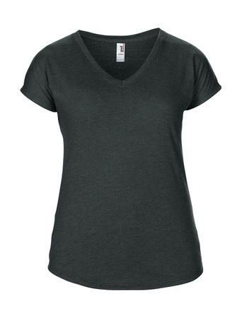 Anvil: Women`s Tri-Blend V-Neck Tee 6750VL – Bild 5