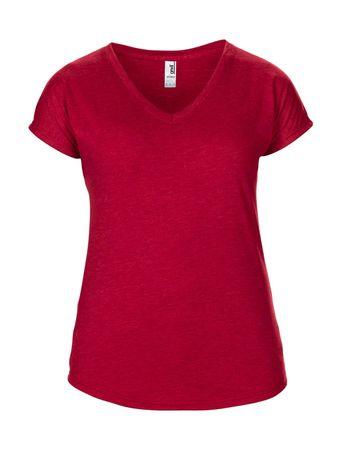 Anvil: Women`s Tri-Blend V-Neck Tee 6750VL – Bild 9