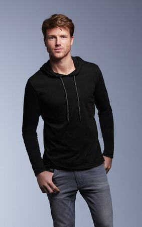 Anvil: Adult Fashion Basic LS Hooded Tee 987 – Bild 1