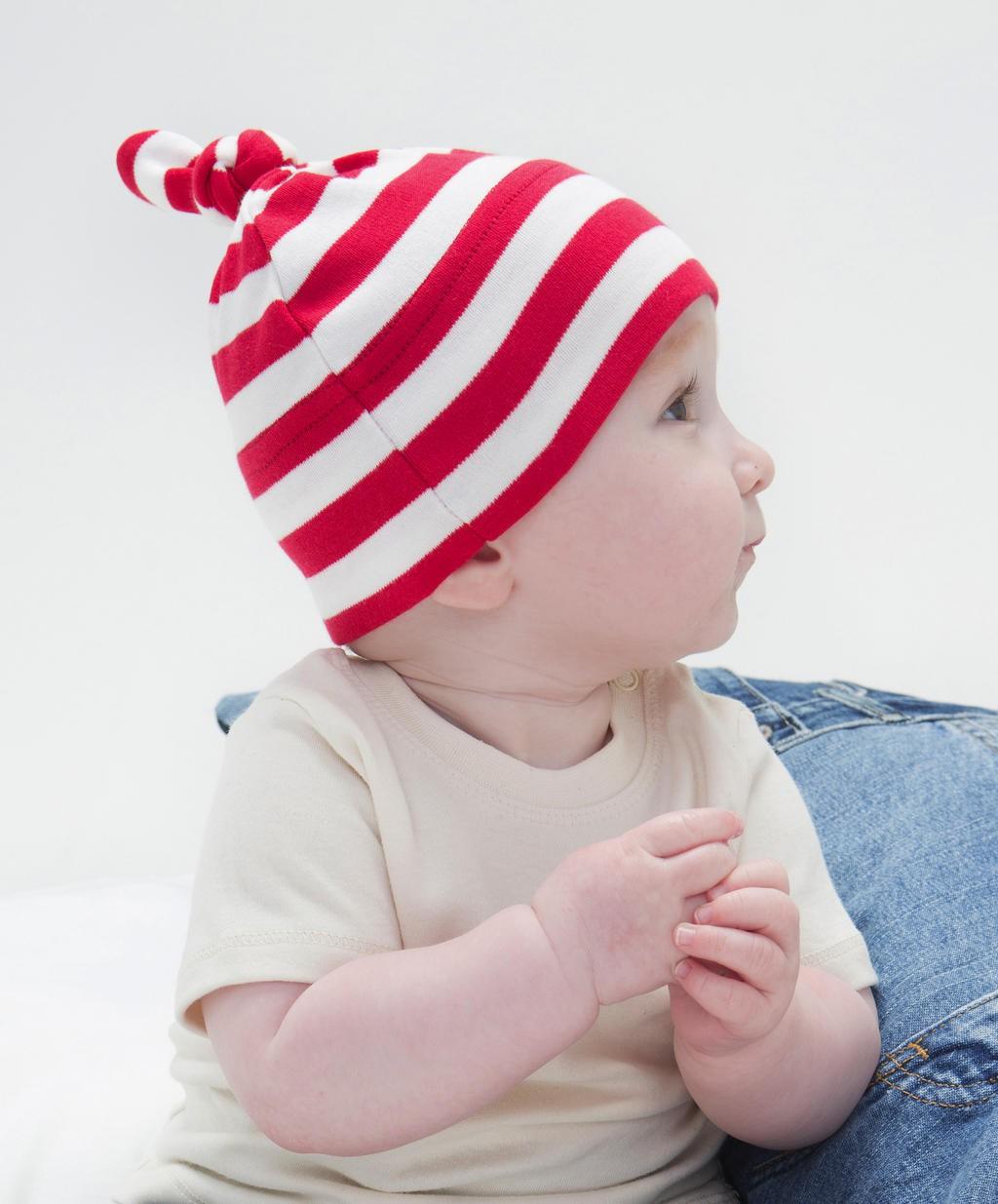BabyBugz: Baby Striped 1 Knot Hat BZ15S