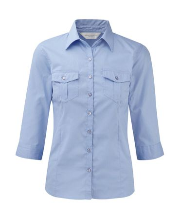 Russell Europe: Ladies` Roll 3/4 Sleeve Shirt R-918F-0 – Bild 6