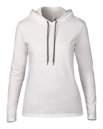Anvil: Women`s Fashion Basic LS Hooded Tee 887L – Bild 2