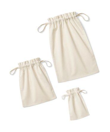 Westford Mill: Soft Cotton Drawcord Bag W118 – Bild 3