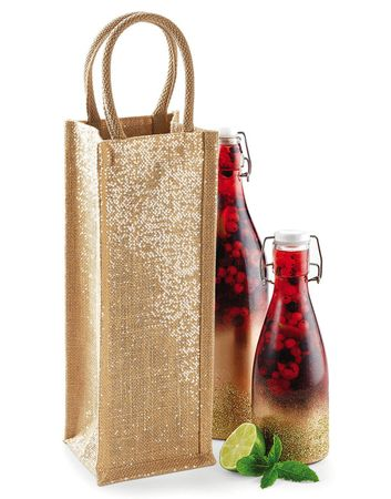 Westford Mill: Shimmer Jute Bottle Bag W433 – Bild 1