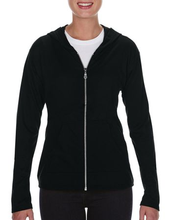 Anvil: Womens` Tri-Blend Full Zip Hooded Jacket  6759L – Bild 2