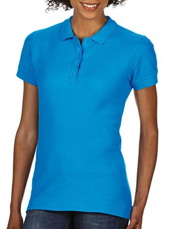 Gildan: Softstyle Ladies Double Pique Polo 64800L – Bild 8
