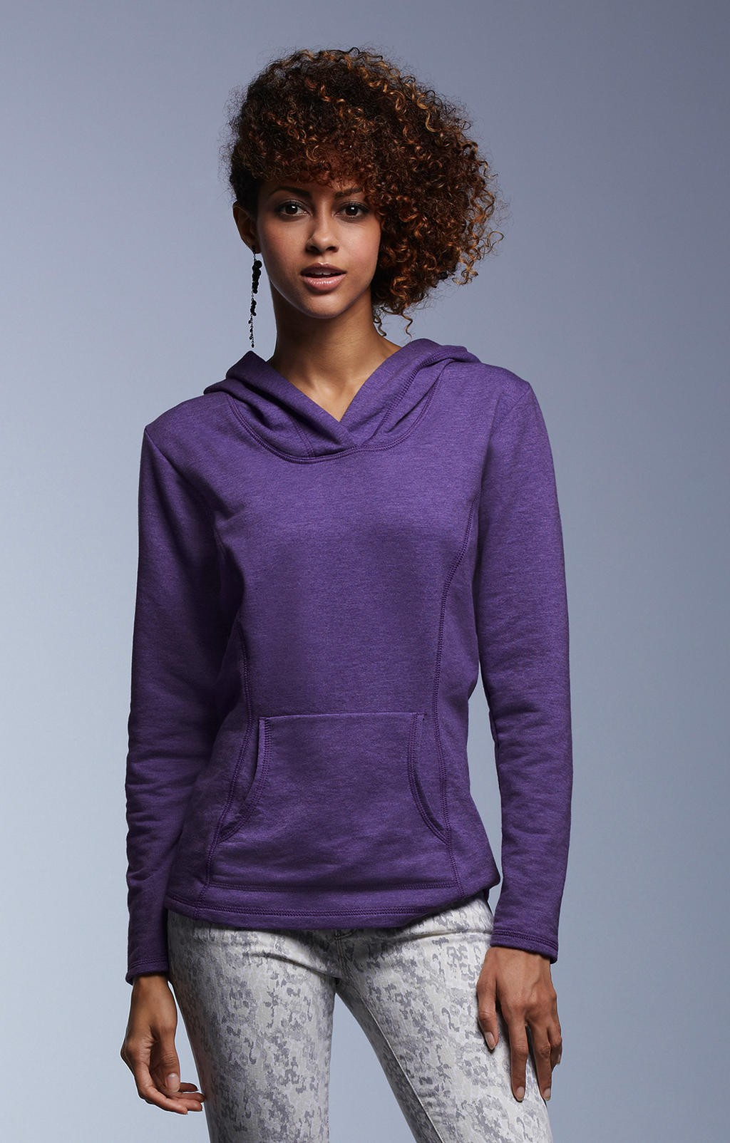 Anvil: Women`s French Terry Hooded Sweat 72500L