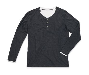 Stedman: Luke Long Sleeve Henley T-shirt Men ST9860 – Bild 2