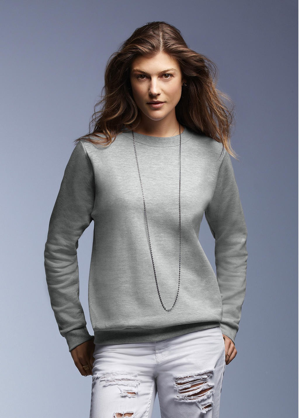 Anvil: Ladies Fashion Crewneck Sweat 71000FL