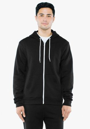 American Apparel: Unisex Flex Zip Hooded Sweat F497WA – Bild 3