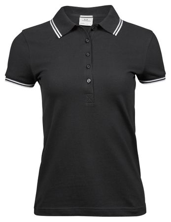 Tee Jays: Ladies Luxury Stripe Stretch Polo 1408  – Bild 3