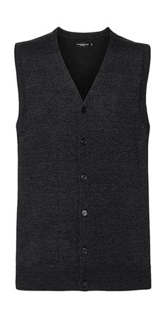 Russell Europe: Men`s V-Neck Sleeveless Knitted Cardigan R-719M-0  – Bild 3