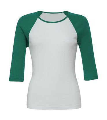 Bella+Canvas: 3/4 Sleeve Contrast Raglan T-Shirt 2000:00:00 – Bild 6
