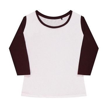 nakedshirt: Jessica Women`s Baseball T-Shirt TF-LSL-O-TB140 – Bild 3