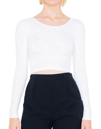 American Apparel: Women`s Jersey LS Crop Top 8379W – Bild 2