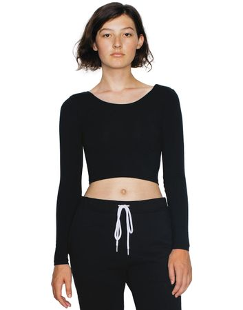 American Apparel: Women`s Jersey LS Crop Top 8379W – Bild 1