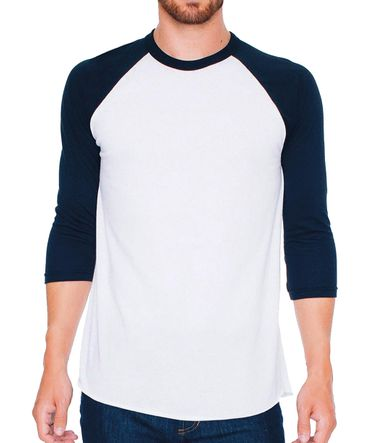 American Apparel: Unisex Poly-Cotton 3/4 Sleeve Raglan T-Shirt BB453W – Bild 5