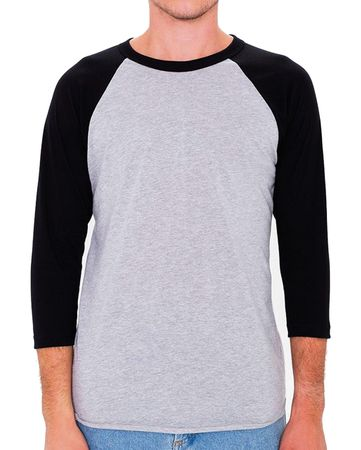 American Apparel: Unisex Poly-Cotton 3/4 Sleeve Raglan T-Shirt BB453W – Bild 7