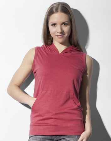 nakedshirt: Cecilia Women`s Sleeveless Hooded T-Shirt TF-SL-H-TB142 – Bild 3