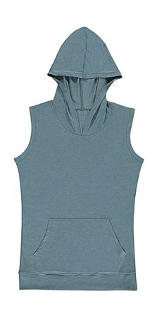 nakedshirt: Cecilia Women`s Sleeveless Hooded T-Shirt TF-SL-H-TB142 – Bild 7