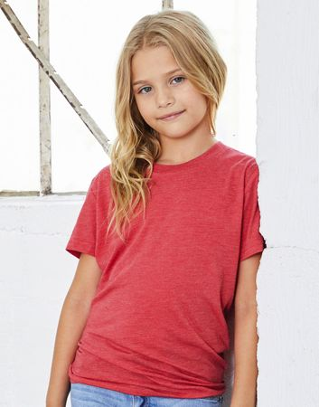 Bella: Youth Triblend Jersey Short Sleeve Tee 3413Y – Bild 2