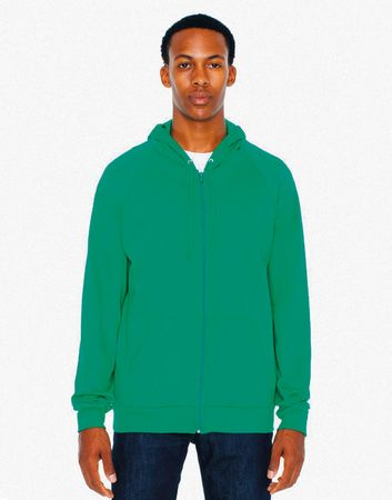 American Apparel: Unisex California Zip Hooded Sweat 5497W – Bild 2
