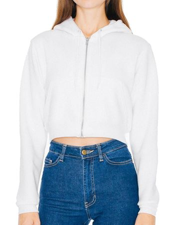 American Apparel: Women`s Flex Cropped Zip Hooded Sweat F397W – Bild 4
