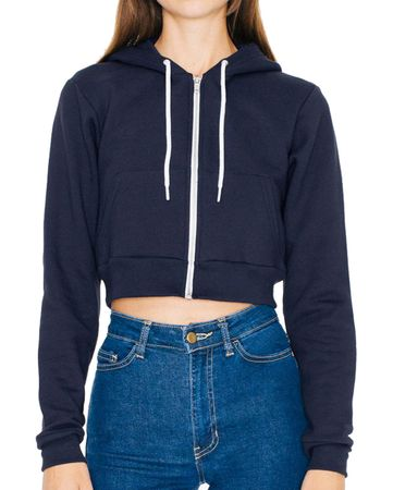 American Apparel: Women`s Flex Cropped Zip Hooded Sweat F397W – Bild 6