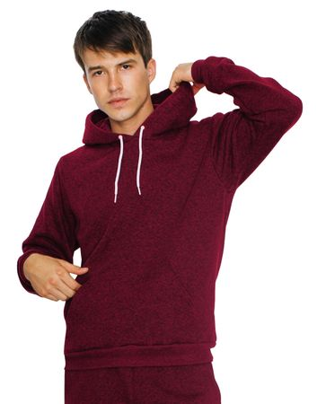 American Apparel: Unisex Mock Twist Hooded Sweat MT498W