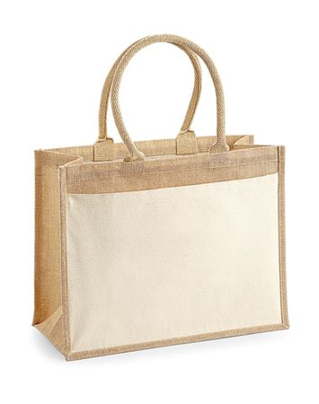 Westford Mill: Cotton Pocket Jute Shopper W427 – Bild 2