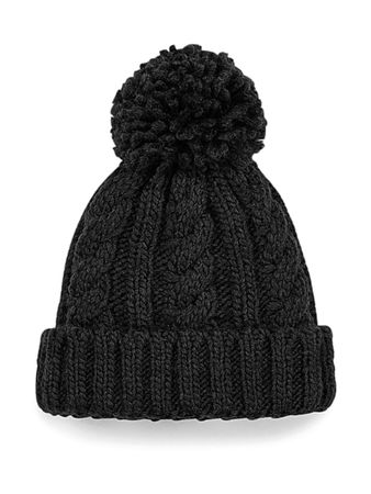 Beechfield: Infant/Junior Cable Knit Melange Beanie B480a/B480b – Bild 2
