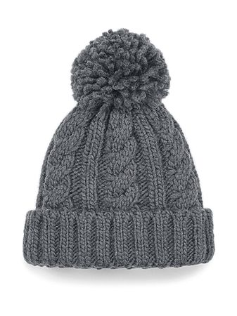 Beechfield: Infant/Junior Cable Knit Melange Beanie B480a/B480b – Bild 3