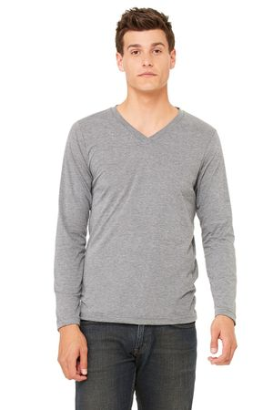 Bella+Canvas: Men`s Triblend LS V-neck T-Shirt 3425 – Bild 3