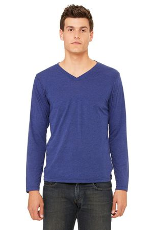 Bella+Canvas: Men`s Triblend LS V-neck T-Shirt 3425 – Bild 4