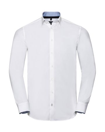 Russell Europe: Men`s LS Tailored Contrast Ultimate Stretch Shirt R-966M-0 – Bild 2