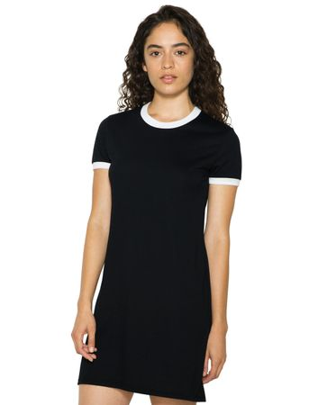 American Apparel: Women`s Poly-Cotton Ringer T-Shirt Dress RSABB3274W