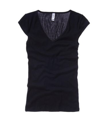 Bella+Canvas: Sheer Mini Rib V-Neck Shirt 8705:00:00 – Bild 3