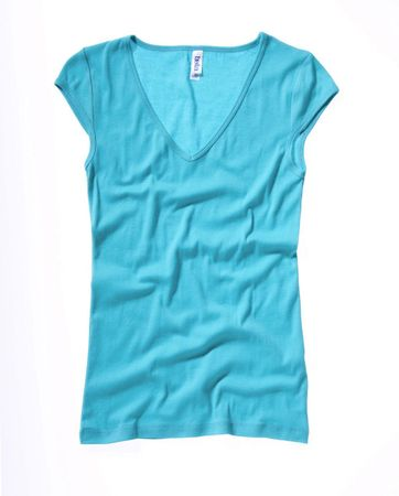 Bella+Canvas: Sheer Mini Rib V-Neck Shirt 8705:00:00 – Bild 9