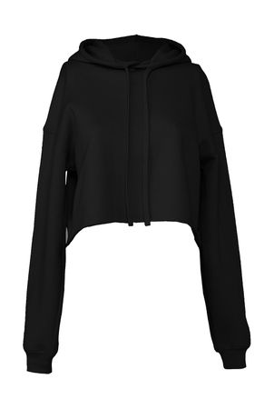 Bella: Women`s Cropped Fleece Hoodie 7502 – Bild 2