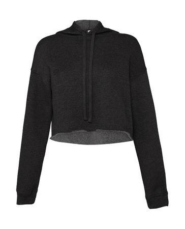 Bella: Women`s Cropped Fleece Hoodie 7502 – Bild 3