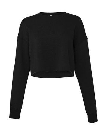 Bella: Women`s Cropped Crew Fleece 7503 – Bild 2