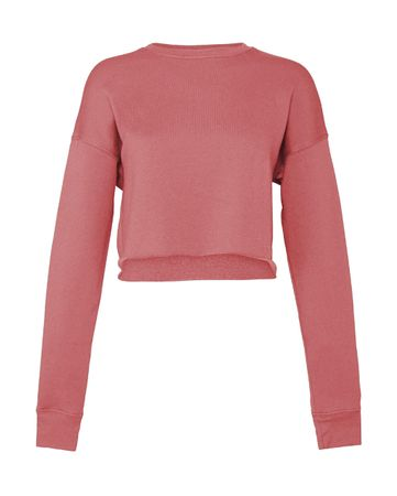 Bella: Women`s Cropped Crew Fleece 7503 – Bild 4