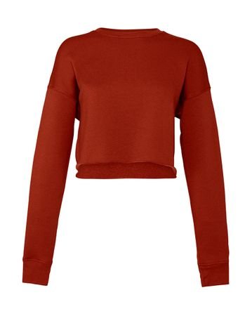 Bella: Women`s Cropped Crew Fleece 7503 – Bild 5