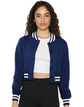 American Apparel: Women`s Heavy Terry Cropped Club Jacket HVT3529W