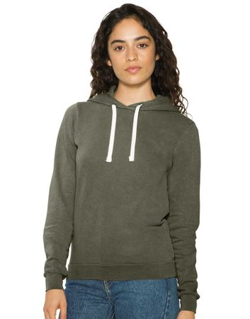 American Apparel: Women`s French Terry Garment Dyed Hoodie TF3350W